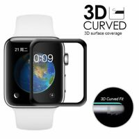 For Apple Watch 42mm 38mm Tempered Glass Film Full Coverage Screen Protector rr
