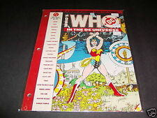 Who's Who in the DC Universe 48 Page Loose Leaf #4 Nov 1990 VFNM Wonder Woman