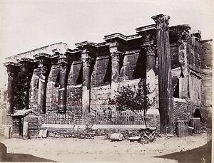 Greece La Library D'Hadrien Athens Photo Albumen 10x13cm Ca 1880