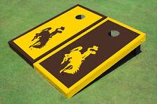 University Of Wyoming Cowboys Alternating Border Custom Cornhole Board