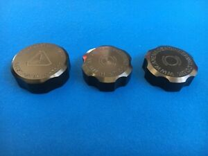Ford Focus RS/ST Mk2 CNC Machined Billet Tank Cap Cover Set of 3 anodised black