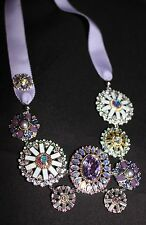 SWAROVSKI - REGENCY RIBBON CRYSTAL NECKLACE # 1128004 PURPLE MULTICOLOR - NIB!