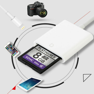 Camera Reader Adapter SD Card for Apple iPhone iPhone 7 8 Plus 11 12