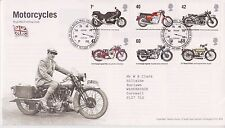 GB ROYAL MAIL FDC FIRST DAY COVER 2005 MOTORCYCLES STAMP SET TALLENTS PMK