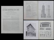 L'ARCHITECTURE N°21 1906 - NEW YORK TIMES BUILDING, GOHRHAM BUILDING, EIDLITZ