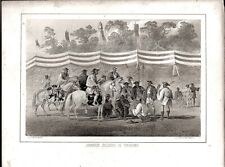 """Print COMM. PERRY  """"JAPANESE SOLDIERS AT YOKUHAMA"""", JAPAN 1856 Few Spots"""
