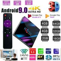 H96 Max Smart TV Box 4G+64G Android9.0 BT WiFi Quad Core 1080p 4K Media Player