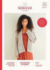 Sirdar 10245 Ladies Cardigan Crochet Pattern - 4 PLY