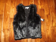 NWT Womens SEBBY Black Faux Fur Vest Jacket Size XXL 2XL