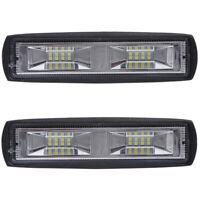 2x LED Arbeitsscheinwerfer Light Bar 48W Offroad Flutlicht Strahler 12V 48V SUV