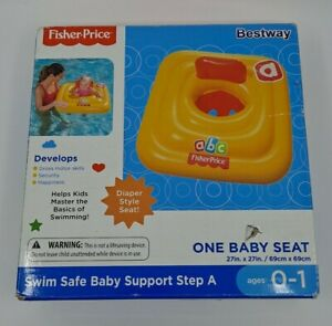 Fisher Price Bestway Swim Safe Baby Support Step A Inflatable Floatie NIB NEW