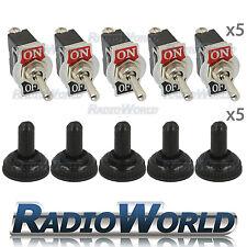 5x Waterproof Toggle Flick Switch 12V ON/OFF Car Dash Light Metal 12 Volt SPST