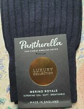 Pantherella Men's English Rutherford Wool Socks Navy Size UK 7.5 - 9.5 RRP £22
