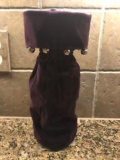 Pottery Barn Aubergine Purple Velvet Wine Bottle HOLIDAY Gift Bag