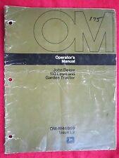 VINTAGE JOHN DEERE 110 LAWN & GARDEN TRACTOR OPERATORS MANUAL OM-M46869/ISSUE J2