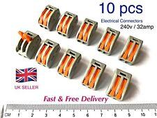 Wago 222 connettori elettrici Filo Blocco Morsetto terminale cavo 12 V 240 V Riutilizzabile
