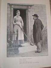 Mirando King Mr Smith è andato GOLF-PESCA Cartoon 1897 Old print