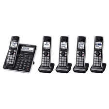 Panasonic KX-TG985SK DECT 6.0 Bluetooth 5-handset Cordless Phone System