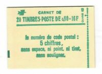 S24432) France 1977 MNH Fr.0, 80 (x20) Booklet Opened #L1970
