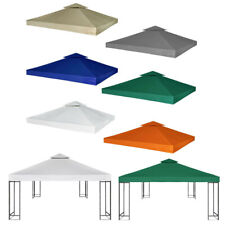 10'x10' Gazebo Cover Canopy Top Replacement 2 Tier Patio Pavilion Cover Sunshade