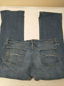 Old Navy Femmes Jean Taille 16 Standard Basse Coffre Coupe Bleu Extensible