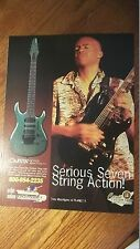 2000 PRINT AD FOR Carvin Guitar Tony MacAlpine Planet X