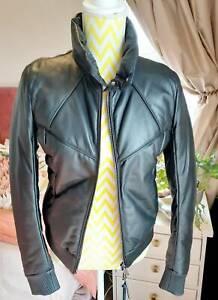 MONCLER women's leather Jacket