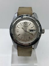 MARCEL World Time Bezel Day And Date Stainless Steel Vintage Wrist Watch