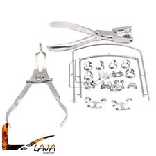 New Rubber Dam Kit Starter Of 18 Pcs With Frame Punch Clamps Dental Instruments