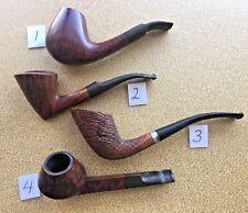Vintage Handmade Danish Smoking Pipes W. O. Larsen Made in Denmark Copenhagen