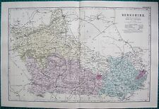 1892 LARGE VICTORIAN  MAP- BERKSHIRE,READING,WINDSOR,WANTAGE,ASCOT