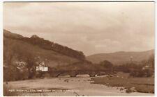 Montgomeryshire; Machynlleth, The Dovey Bridge RP PPC By Judges, 1952 PMK