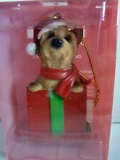 Little Gifts Yorkie Hanging Christmas Ornament New In Box