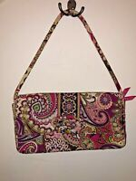 VERA BRADLEY Knot Just a Clutch Very Berry Paisley Purse Bag Pink purple white