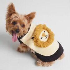 World Market Dog Knit Sweater Cream Lion Face Small Pet Costume New
