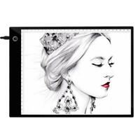 A4 Digital Graphic Sketch Drawing Tablet LED Drawing Board Copy Pad Portable