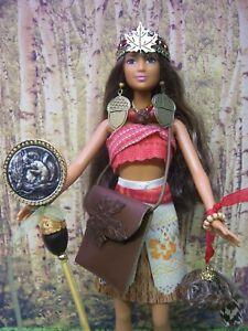 """Barbie """"The Nutkin Queen"""" Halter Top Skirt Woodland Squirrel OOAK Accessories"""