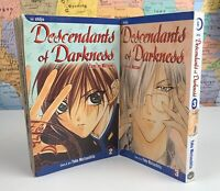 SHIPS SAME DAY Descendants of Darkness Vol. 2-3 Manga Yoko MatsushitaVolumes