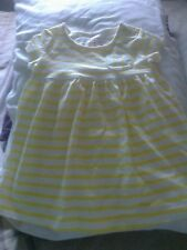 Baby girl dress yellow white striped short sleeve dress by F&F age 3-6 mths