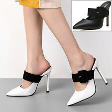 Womens Ladies Stiletto High Heels Shoes Pointed Toe Platform Pumps Evening Party