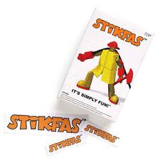 1 Original Stikfas Action Figure Pack Alpha Male AFK36R Firefighter + Stickers