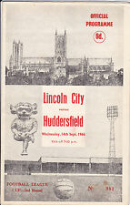 LINCOLN CITY v HUDDERSFIELD TOWN 66-67 LEAGUE CUP MATCH