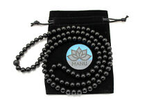 The Black Mala - Traditional Spiritual jewelry, onyx necklace, meditatiation