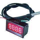 Red LED Digital Car Temperature Meter Thermometer -55-125°C DS18B20 Sensor F/C M