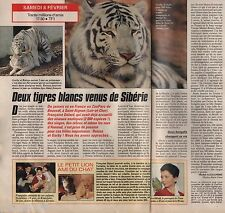 Coupure de presse Clipping 1992 2 Tigres Blancs au Zoo de Beauval (1 page 1/2)