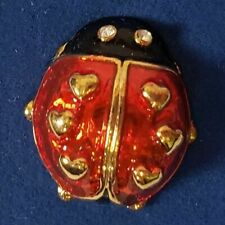 Avon Love Bug Tac Fashion Lapel Pin Ladybug Gold Red Black Enamel 2005 NIB