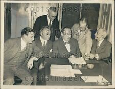 1933 US Senators A Robinson IN M Neely WVA H Stephens MS E Custigan Press Photo