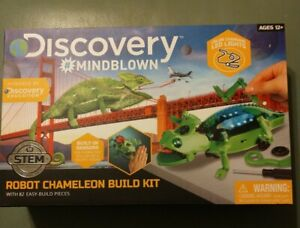 New Discovery Mind Blown Robot Chameleon Build Kit Color Changing LED Lights