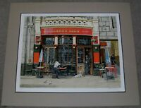 """BRUCE BOMBERGER PENCIL SIGNED LITHOGRAPH OF """"GOLDEN LION"""" SHOP"""
