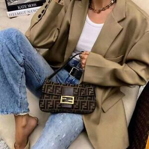 Vintage Letter Printed Baguette Ins Fashion Underarm Shoulder Bag Luxuary Brand